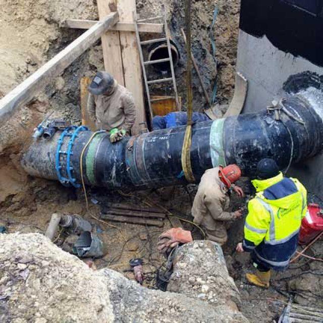 Neubau oder Ersatz von Wasserleitungen